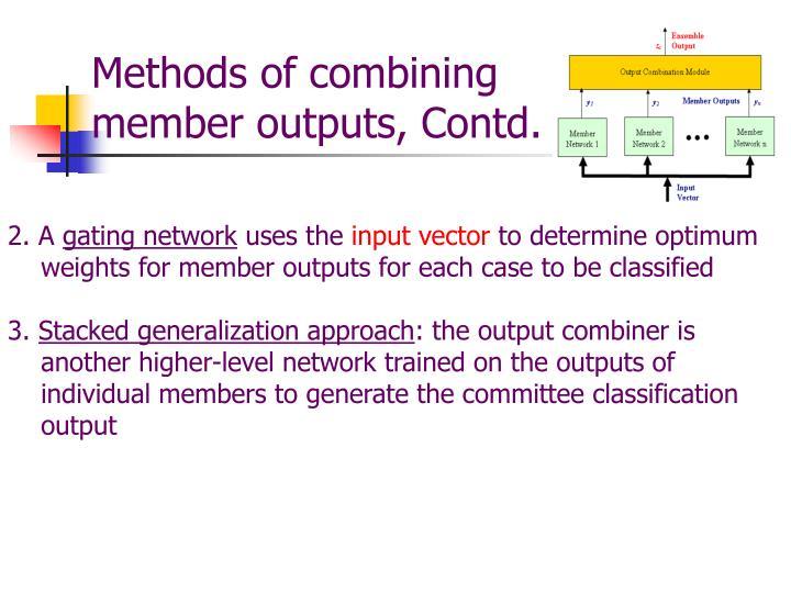 Methods of combining