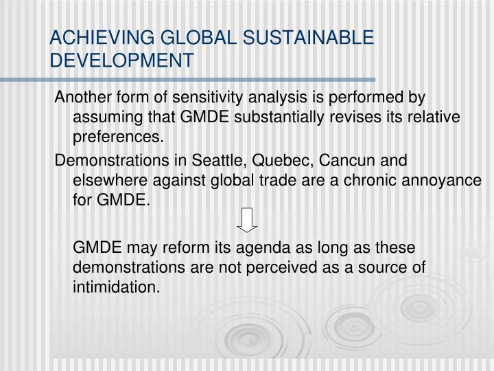 ACHIEVING GLOBAL SUSTAINABLE DEVELOPMENT