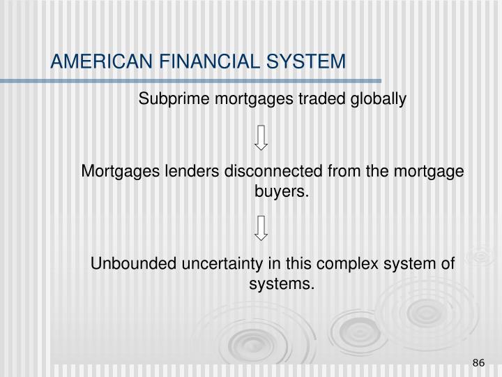 AMERICAN FINANCIAL SYSTEM