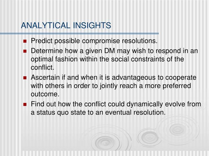 ANALYTICAL INSIGHTS