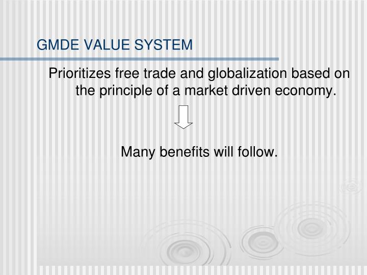 GMDE VALUE SYSTEM