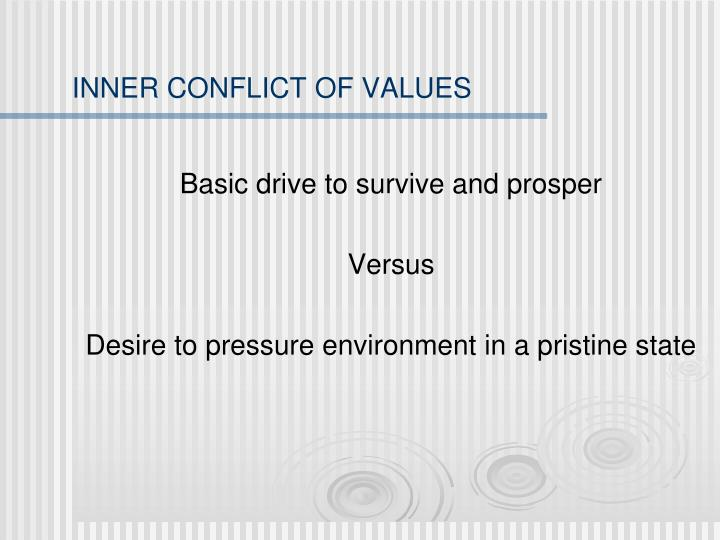 INNER CONFLICT OF VALUES
