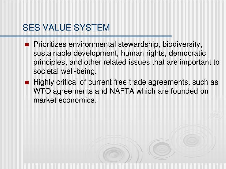 SES VALUE SYSTEM