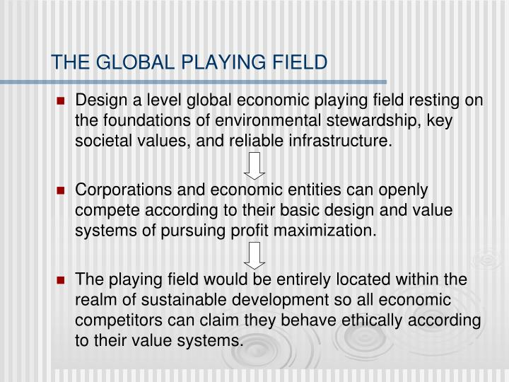 THE GLOBAL PLAYING FIELD