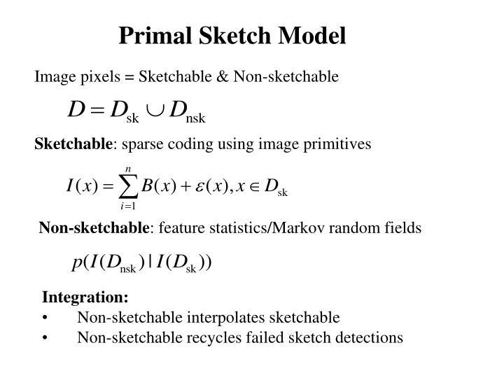 Primal Sketch Model