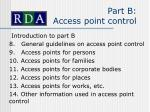 part b access point control