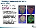 geometric modeling and mesh generation