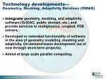 technology developments geometry meshing adaptivity services gmas