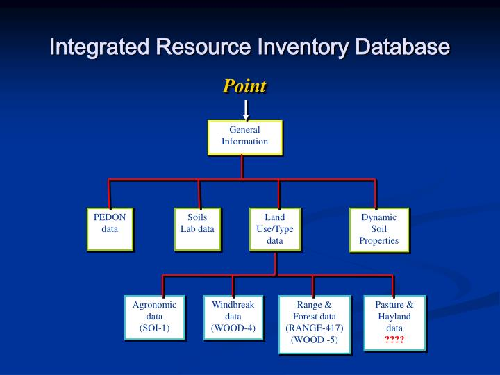 Integrated Resource Inventory Database