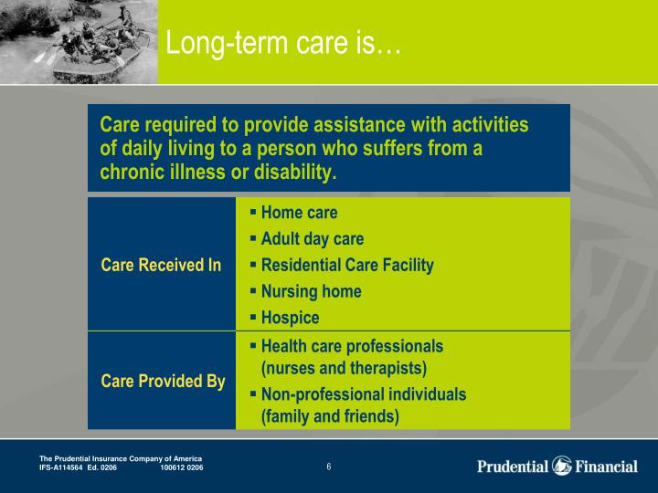 Long-term care is…