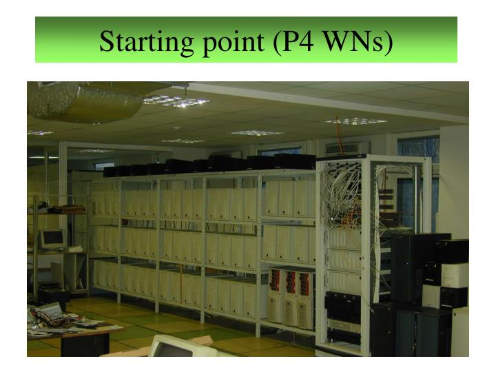 Starting point (P4 WNs)