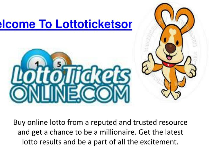 Online Lotto Results