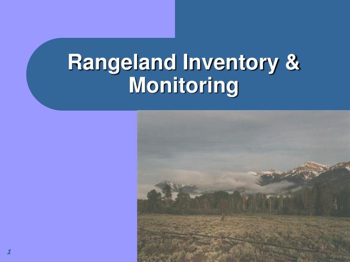 rangeland inventory monitoring n.