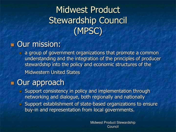 midwest product stewardship council mpsc n.