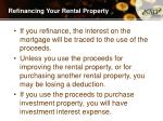 refinancing your rental property