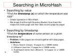 searching in microhash