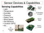 sensor devices capabilities