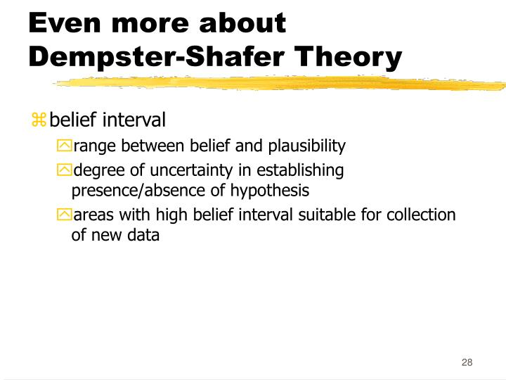 Even more about Dempster-Shafer Theory