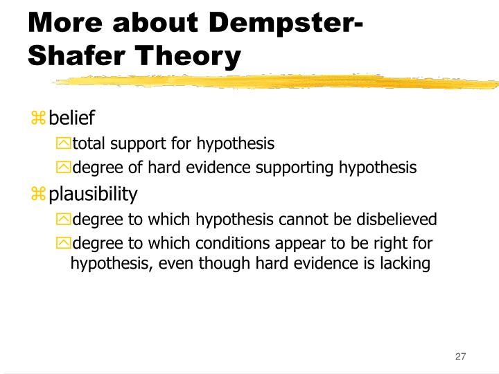 More about Dempster-Shafer Theory