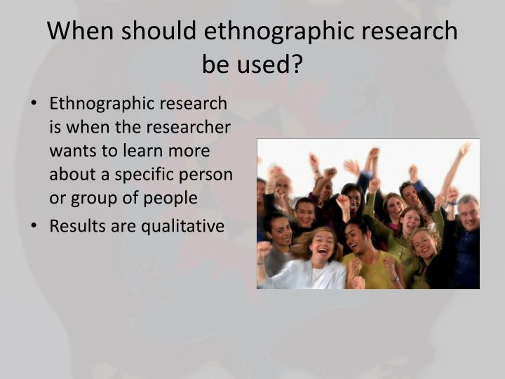 ethnographic research papers A sample of recorded ethnographic observations what follows is a sample of what ethnographic fieldnotes may look like when they are written up, as i've asked you to do in.