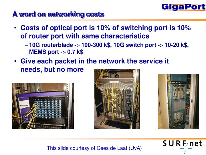 A word on networking costs