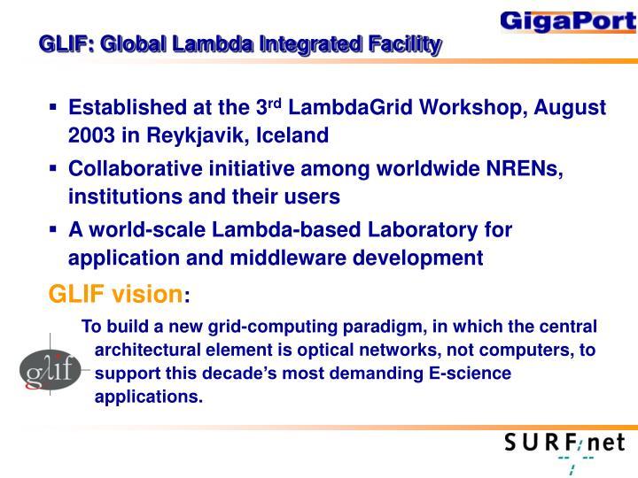 GLIF: Global Lambda Integrated Facility