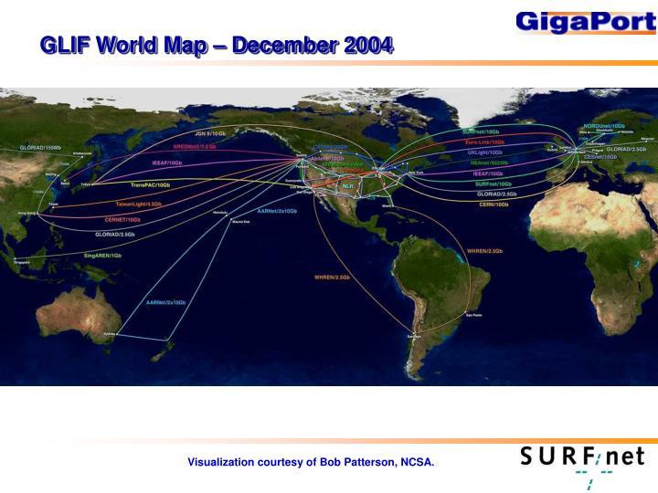 GLIF World Map – December 2004