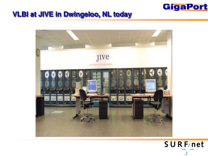 VLBI at JIVE in Dwingeloo, NL today