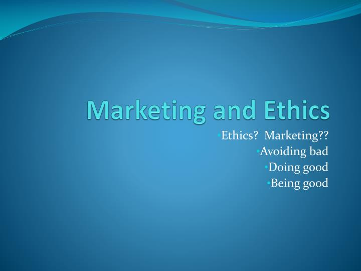 marketing and ethics n.