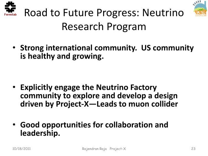 Road to Future Progress: Neutrino Research Program