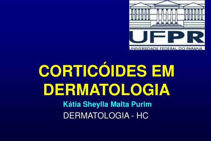 cortic ides em dermatologia n.