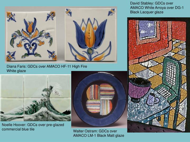 David Stabley: GDCs over AMACO White Arroya over DG-1 Black Lacquer glaze