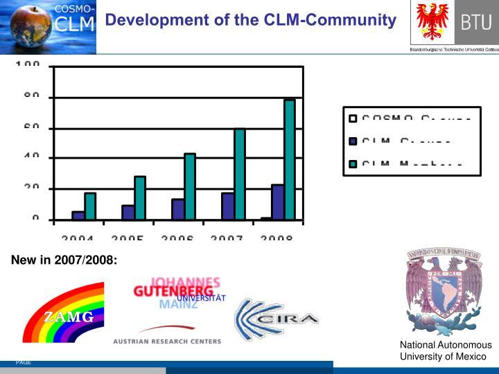 Development of the CLM-Community