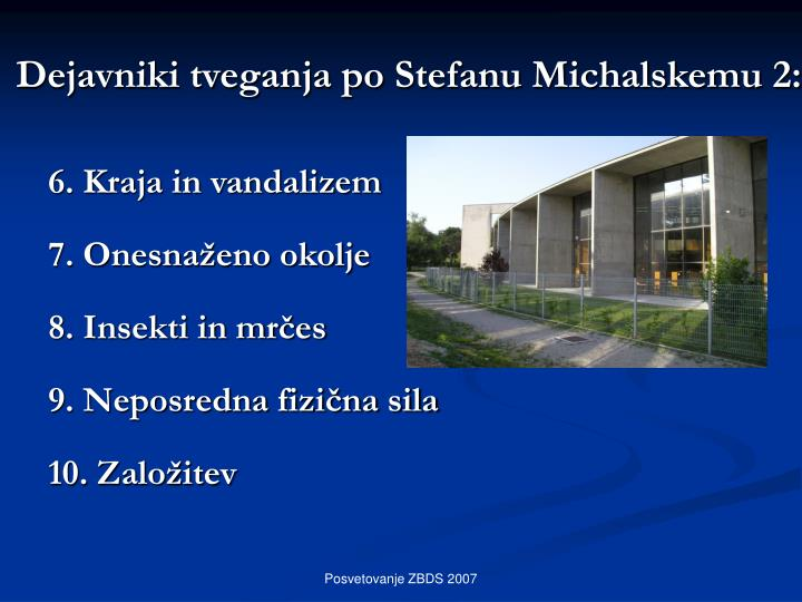 Dejavniki tveganja po Stefanu Michalskemu 2: