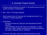 a domestic product growth