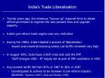 india s trade liberalization