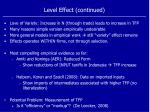 level effect continued