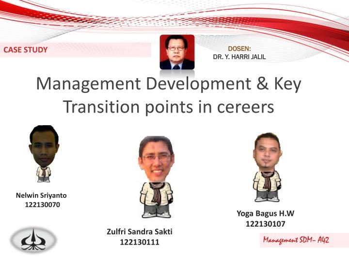 Management development key transition points in cereers