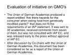 evaluation of initiative on gmo s4