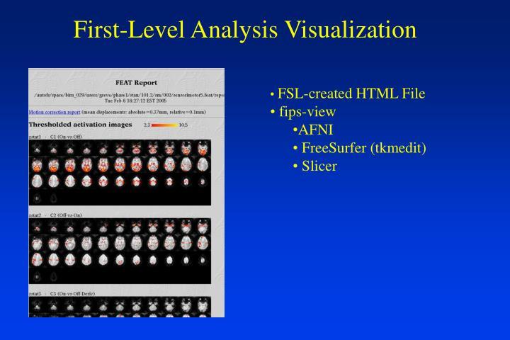 First-Level Analysis Visualization