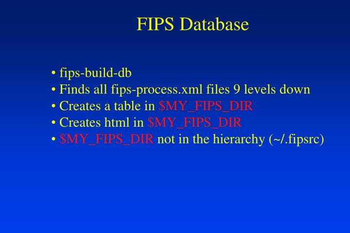 FIPS Database