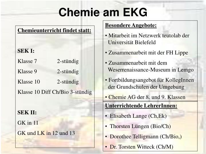 chemie am ekg n.
