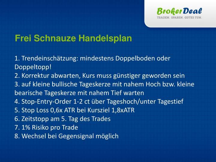 Frei Schnauze Handelsplan
