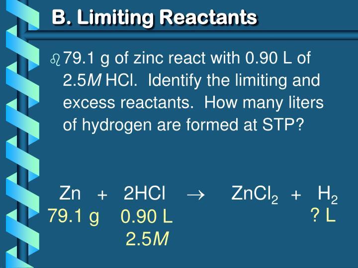B. Limiting Reactants