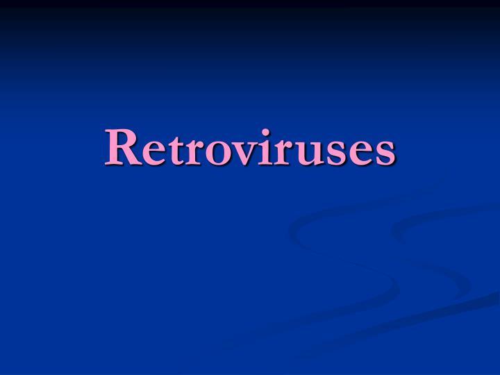 retroviruses n.