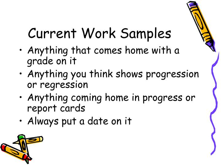 Current Work Samples