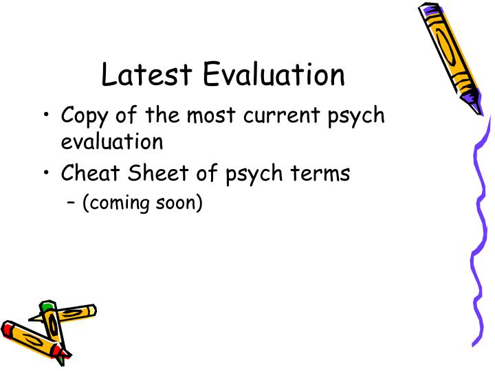 Latest Evaluation