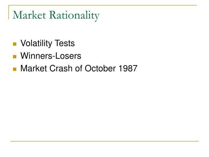 Market Rationality