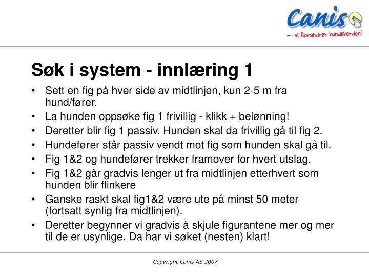 Søk i system - innlæring 1