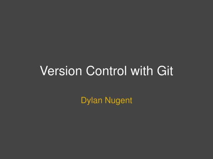 version control with git n.